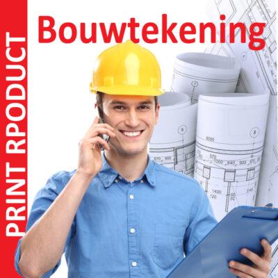 Bouwtekening printen