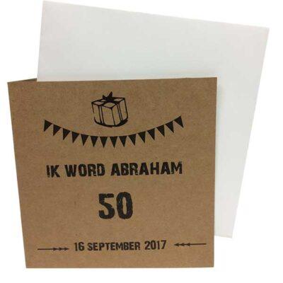 Uitnodigingskaart kraftpapier