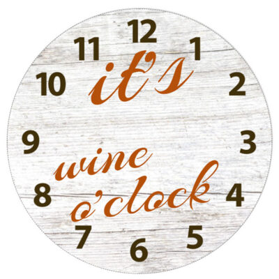 Klok it's wine o'clock