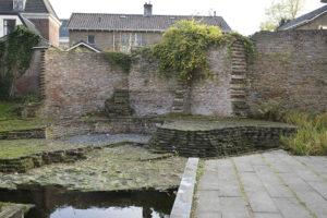 Muur kasteel Wageningen