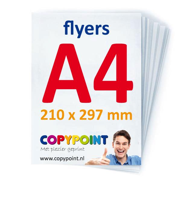 A4 flyers drukwerk